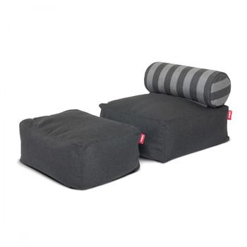 - Fatboy Tsjonge Jongetje Sessel - anthrazit/gestreift/Sunbrella/101x60x46cm/für Innen- und Außenbereich geeignet