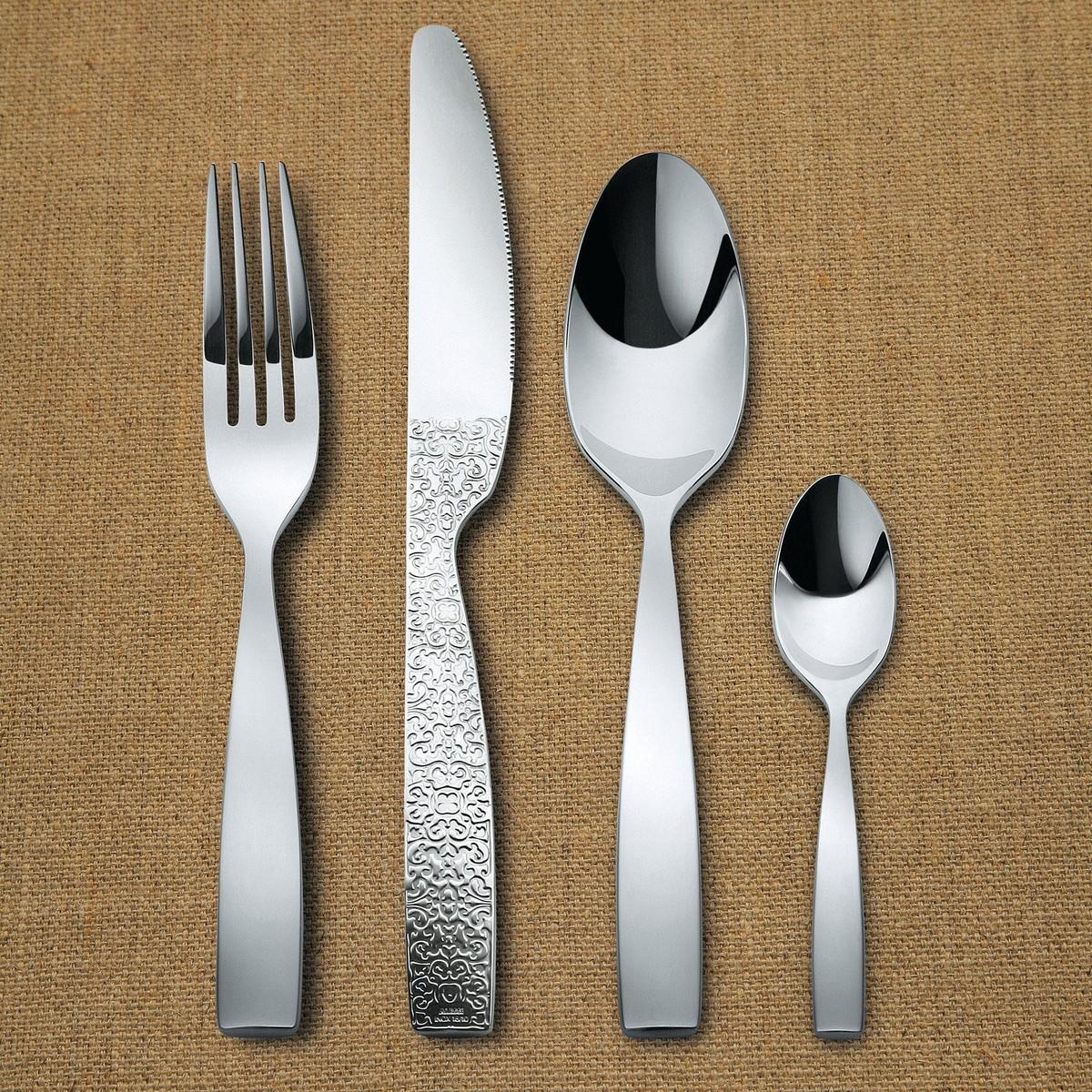 Dressed cutlery set 24 piece alessi - Alessi flatware sale ...