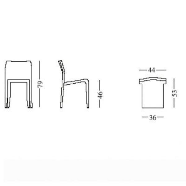 301 laleggera chair alias for Stuhl design dwg
