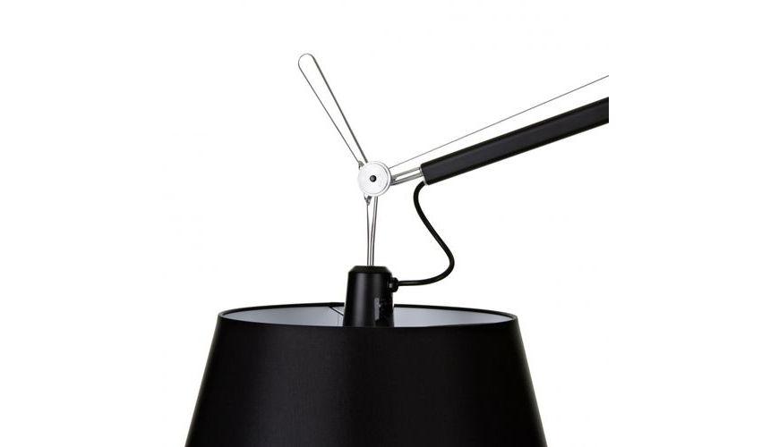 Tolomeo Mega Terra Black Dimmer Floor Lamp Artemide