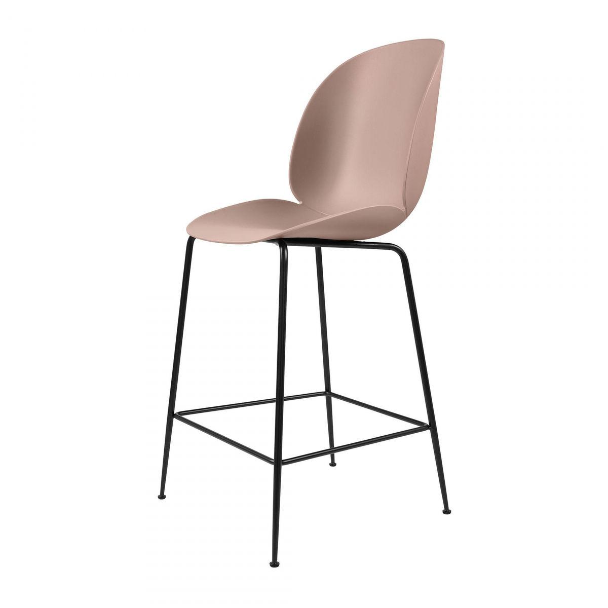 Beetle counter chair barhocker schwarz 108cm gubi for Barhocker pink
