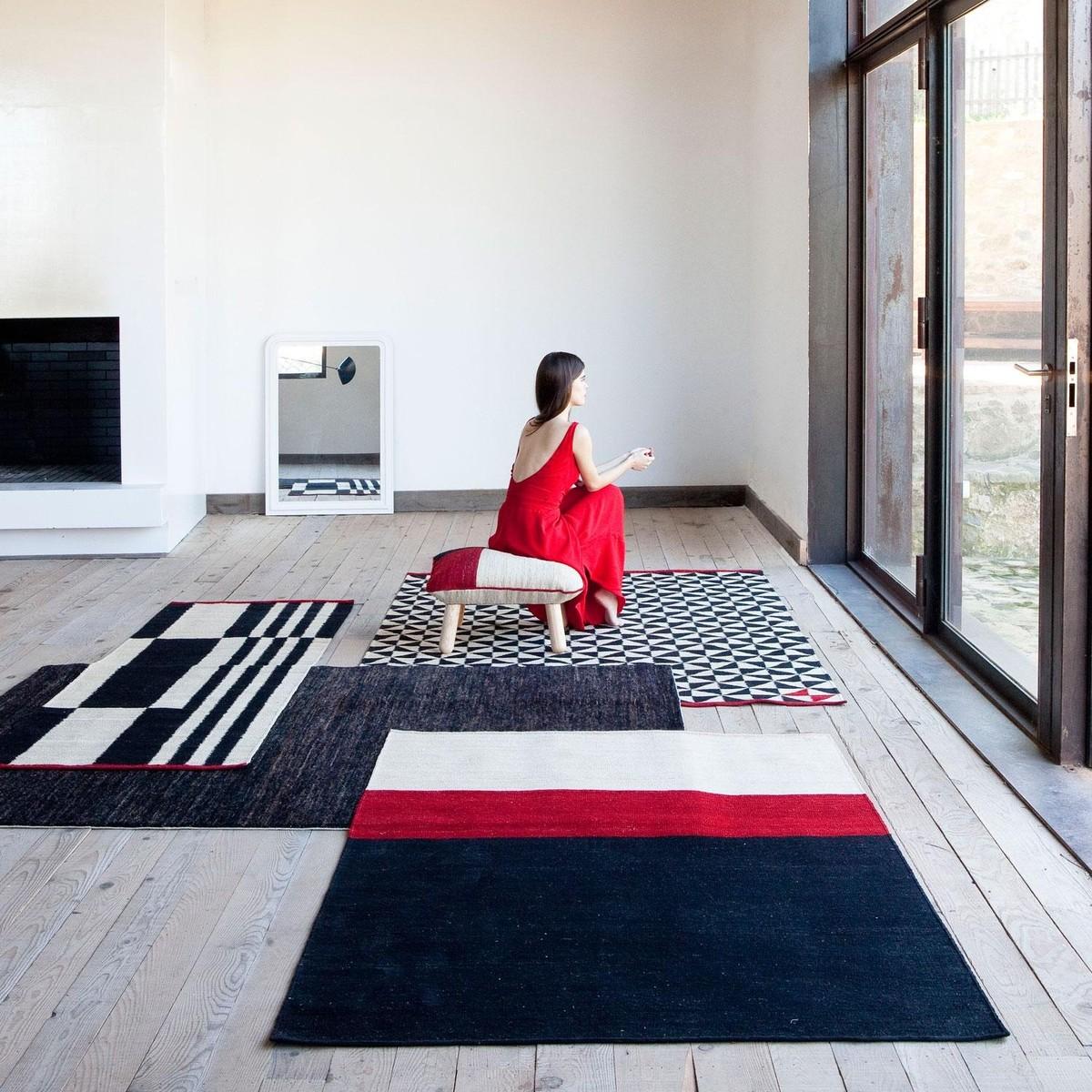 m lange stripes 1 kilim tapis de couloir nanimarquina k lims tapis textiles. Black Bedroom Furniture Sets. Home Design Ideas