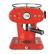 Illy - X1 Trio Pad- Espressomaschine ESE - rot/Metall/inkl. 21 ESE-Pads