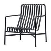 HAY - Palissade Lounge Stuhl high - anthrazit/pulverbeschichtet/H x B x T: 88 x 92 x 73cm
