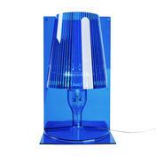 Kartell - Take - Tafellamp - blauw/transparant/scherm plissé