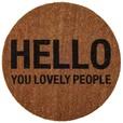 Bloomingville - Hello People Doormat Ø 70cm