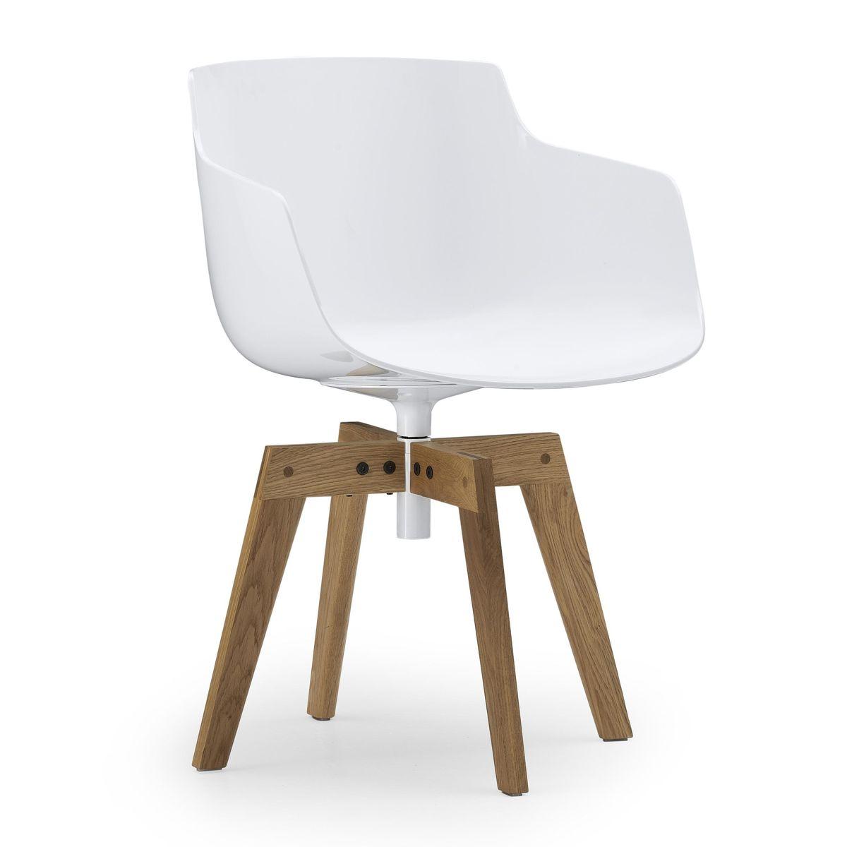 flow slim armchair with oaken legs mdf italia. Black Bedroom Furniture Sets. Home Design Ideas