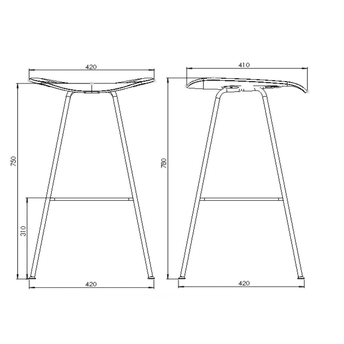 Gubi 2d bar stool barhocker gubi for Barhocker 2d cad