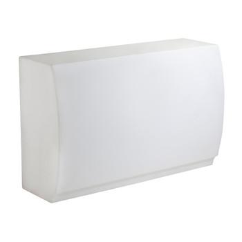 Vondom - Fiesta Thekenelement beleuchtet - weiß/matt/ohne Edelstahlabdeckung/ohne Fachböden