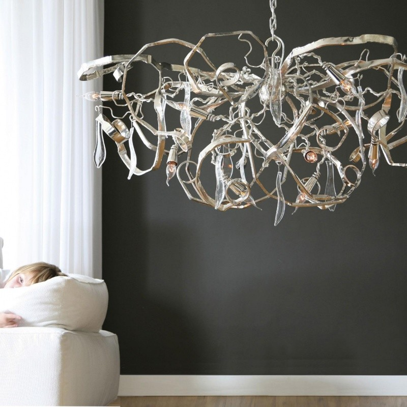 delphinium oval chandelier brand van egmond. Black Bedroom Furniture Sets. Home Design Ideas